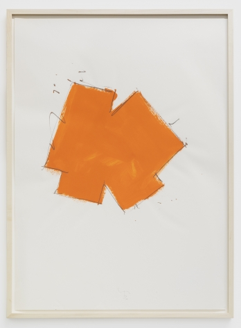 Imi Knoebel Untitled, 1976 Oil and graphite on paper 39 3/8 x 27 1/2 in 100 x 70 cm (IK76.001)