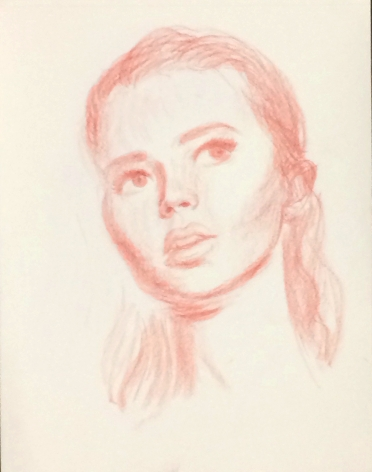 Jansson Stegner  Study for Punalu'u II, 2017  Pencil on paper14 x 11 in35.6 x 27.9 cm  (JAS17.013)