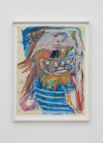 Anke Weyer, Untitled, 2017. Oil pastel and oil stick on paper 25 x 19 in 63.5 x 48.3 cm (AW17.010)