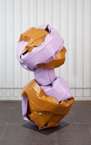 Anna Fasshauer, Bonnie Brae, 2018. Aluminum/car lacque,r 68 7/8 x 37 3/8 x 45 1/4 in, 175 x 95 x 115 cm (AF18.002)