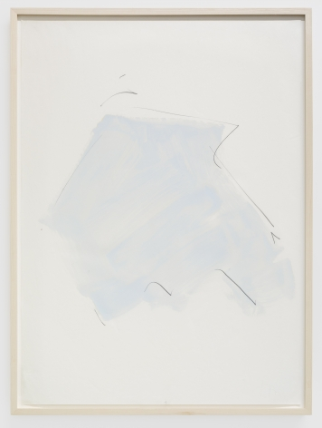 Imi Knoebel Untitled, 1977 Oil and graphite on paper 39 3/8 x 27 1/2 in 100 x 70 cm (IK77.002)