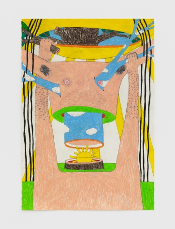 Matthew Sweesy Christ Ladder, 2020 Colored pencil on paper 44 x 30 in 111.8 x 76.2 cm (MSW20.001)