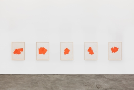 Installation view 2 of Imi Knoebel: Works from the Seventies (November 9-December 21, 2019) at Nino Mier Gallery, Los Angeles