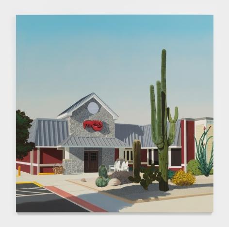 Jake Longstreth Arizona Red Lobster, 2021 Oil on canvas 84 x 84 in 213.4 x 213.4 cm (JLO21.019)
