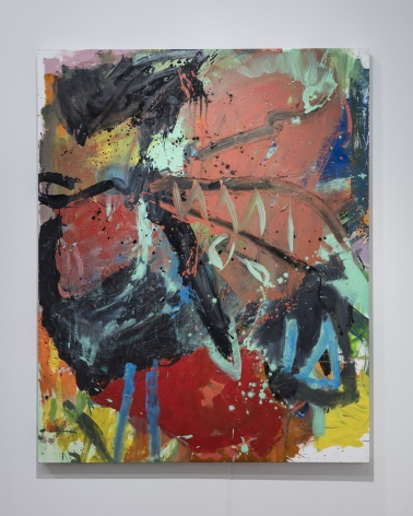 Anke Weyer, Frisur, 2017, oil and acrylic on canvas, 65 x 52 in (165.1 x 132.1 cm), AW17.003