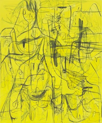 Jana Schröder, Kadlites L5, 2018, Acrylic, graphite and lead on canvas 94 1/2 x 78 3/4 in (240 x 200 cm), JSR19.008
