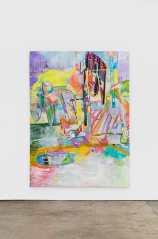 Gerlind Zeilner Strasse (Street), 2020 Oil and egg tempera on canvas 90 1/2 x 66 7/8 in 230 x 170 cm (GZE20.005)