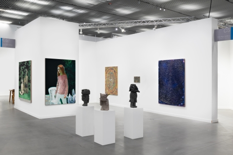 Installation View of Nino Mier Gallery at Frieze New York, 2021