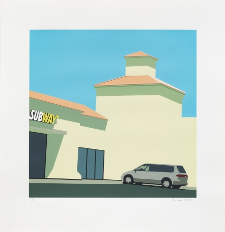 Jake Longstreth, Lake Chambers, 2020. Signed, numbered and dated 25 color silkscreen on Rives BFK paper. 30.5 x 30 in, 22 x 22 in, image Edition of 50 (JLO20.021)