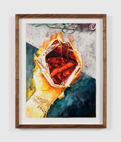 Conrad Ruiz Man on Fire XIII, 2020 Watercolor on paper 12 x 9 in 30.5 x 22.9 cm (CRU20.003)