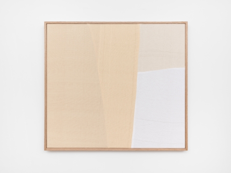 Ethan Cook, About Nothing, 2020. Hand woven cotton and linen, framed 29 x 32 in, 73.7 x 81.3 cm (ECO20.043)