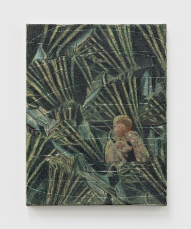 Marin Majic Take Something With You, 2020 Colored pencil, oil color, marble dust on linen 13 x 10 in 33 x 25.4 cm (MMA21.004)