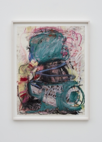 Anke Weyer, Untitled, 2017, Oil pastel and oil stick on paper, 25 x 19 in, 63.5 x 48.3 cm (AW17.011)