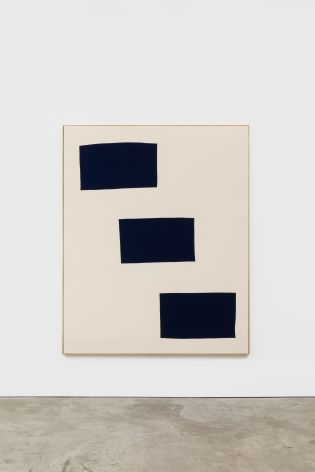 Ethan Cook Untitled, 2014 Hand woven cotton canvas and canvas in artist's frame 95 x 76 in 241.3 x 193 cm (ECO14.001)