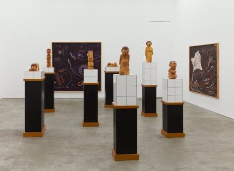 "Installation View of ""Damenbad KPX"" series of sculptures"
