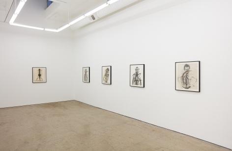 """Installation View of """"Self portrait"""", """"Schrei"""", """"Body-Pose"""", """"Siegel Sagel…."""", and """"Eine phantastische Erinnerung….."""""""