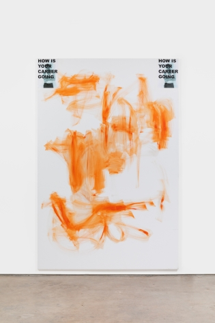 Peter Bonde HOW IS YOUR CAREER GOING, 2021 Inkjet acrylic on canvas 118 1/8 x 78 3/4 in 300 x 200 cm (PB21.002)