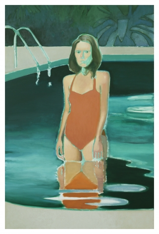 Jonathan Wateridge Dip, 2019 Oil on linen 88 5/8 x 59 1/8 in 225 x 150 cm (JWA20.009)