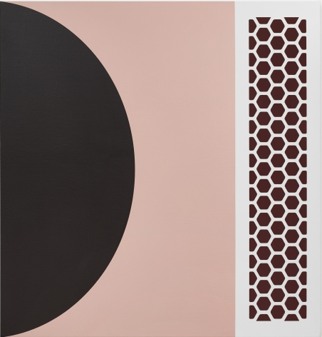 Thomas Wachholz, Femina, 2019. Red phosphorous and acrylic on canvas, 43.3 x 41.3 x 1.4 in, 110 x 105 x 3.6 cm (TW19.006)