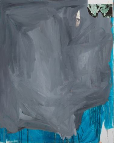 Peter Bonde, Merlin, 2014. Oil on mirror foil, 39.37 x 31.5 x 1.6 inches, 100 x 80 x 4 cm (PB14.006)