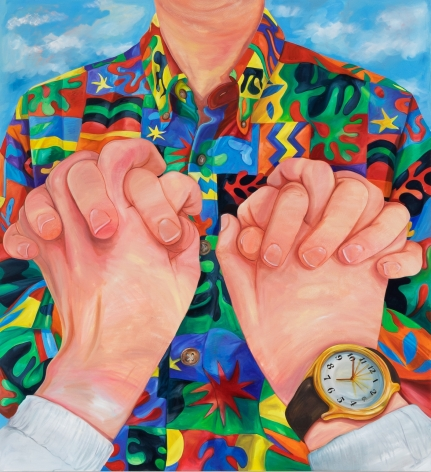 Rebecca Ness, Time Together, 2020. Oil on linen, 83 x 90 1/2 in, 210.8 x 229.9 cm (RNE20.010)