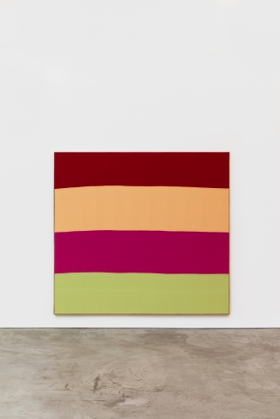 Ethan Cook Untitled, 2019 Hand woven cotton and linen, framed 76 x 82 in 193 x 208.3 cm (ECO19.003)