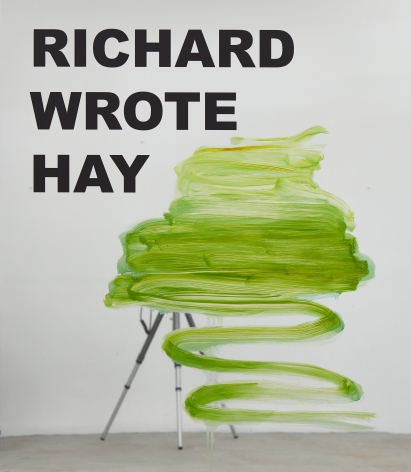 Peter Bonde, Richard Wrote Hay (Sorry I Meant Hey), 2016. Oil on mirror foil, 63 x 55.12 x 1.6 inches, 160 x 140 x 4 cm (PB16.006)