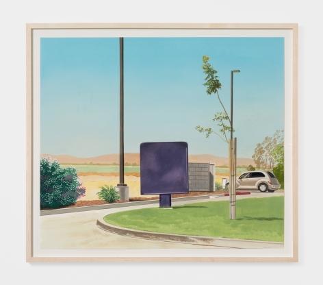 Jake Longstreth Untitled California Landscape, 2021 Oil on paper 19 7/8 x 23 in (unframed) 50.5 x 58.4 cm (unframed) (JLO21.011)