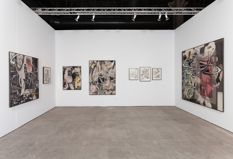 EXPO Chicago 2015, Installation view; Interior room view, without table and chairs