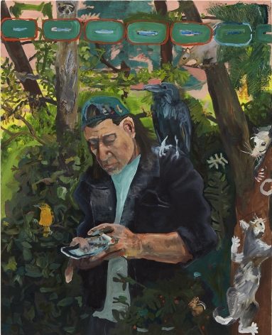 Celeste Dupuy-Spencer Reach Out, 2017 Oil on linen 28 x 35 in 71.1 x 88.9 cm (CDS17.039)