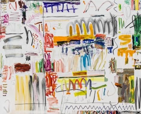 Andreas Breunig, Hi_LoRes No82, 2019, Oil, graphite, charcoal on canvas 82 5/8 x 102 3/8 in (210 x 260 cm), ABR19.030