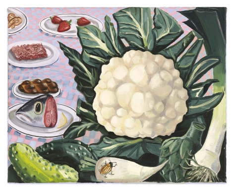 Nikki Maloof Vegetables Study, 2021 Oil on linen 12 x 15 in 30.5 x 38.1 cm
