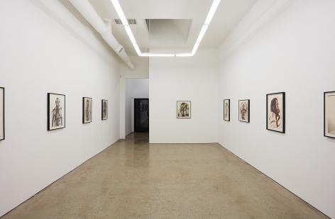 """Installation View of """"Face Farces"""" (2019) facing Entrance"""