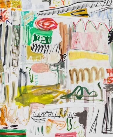 Andreas Breunig, Body Possibility No4, 2019, Oil, graphite, charcoal on canvas 90 1/2 x 74 3/4 in (230 x 190 cm), ABR19.027