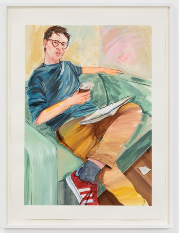 Rebecca Ness, Ian, 2020. Gouache and pencil on paper, 30 x 22 in, 76.2 x 55.9 cm, 32 3/4 x 24 5/8 in (framed), 83.2 x 62.5 cm (RNE20.019)