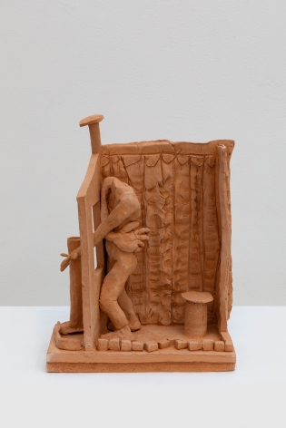 Alessandro Pessoli, My Personal Addis Ababa, 2019, Terracotta, 5 1/2 x 10 x 14 in (14 x 25.4 x 35.6 cm)