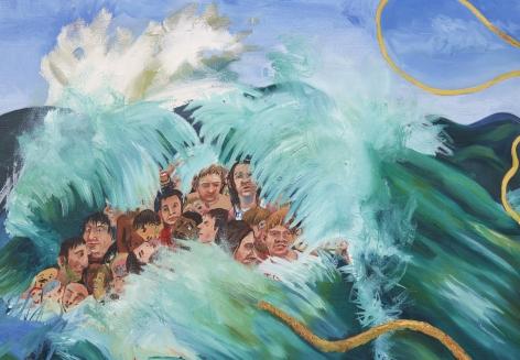 Celeste Dupuy-Spencer Rally, Part II, 2017 Oil on canvas 24 x 30 in 61 x 76.2 cm (CDS17.004)