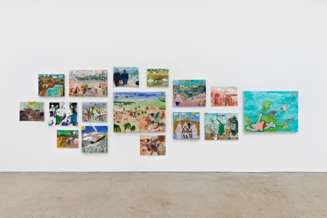 Installation View of Raynes Birkbeck The World View Show (May 20–June 30, 2020) Nino Mier Gallery, Los Angeles, CA