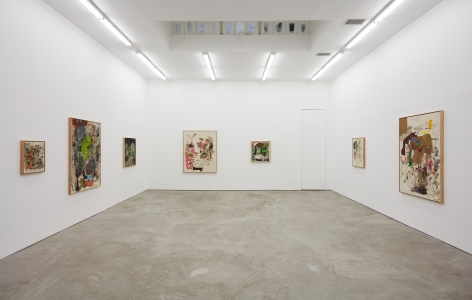 Installation view of Michael Bauer: Soft Paintings (Bearnaise) (January 27 – March 11, 2017), Nino Mier Gallery, Los Angeles