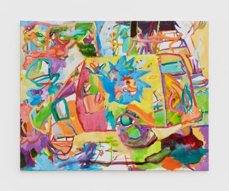 Gerlind Zeilner 1street, 2020 Oil and egg tempera on canvas 37 3/8 x 46 1/2 in 95 x 118 cm (GZE20.020)