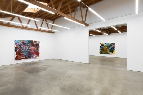 """Installation View of """"Bigger Anke Weyer Painting"""", and """"Traeumerei"""""""