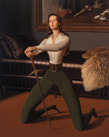 Jansson Stegner Swordswoman, 2018 Oil on linen 68 x 55 in 172.7 x 139.7 cm (JAS18.010)