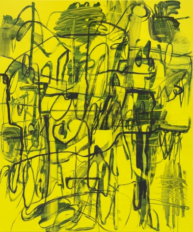 Jana Schröder, Kadlites L18, 2018, Acrylic, graphite and lead on canvas, 94 1/2 x 78 3/4 in (240 x 200 cm), JSR19.019