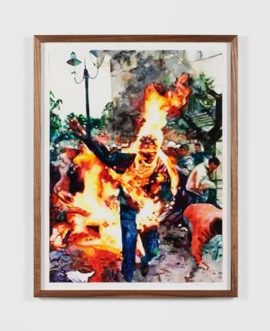 Conrad Ruiz Man on Fire XII, 2020 Watercolor on paper 24 x 18 in 61 x 45.7 cm (CRU20.002)