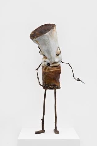 "Jon Pylypchuk Untitled ""I know I'll never love this way again"" (David), 2021 Bronze 46 x 20 x 18 in 116.8 x 50.8 x 45.7 cm (JPY21.006)"