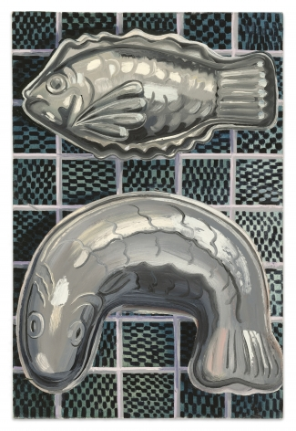 Nikki Maloof Pewter Fish, 2021 Oil on linen 18 x 12 in 45.7 x 30.5 cm (NMA21.022)