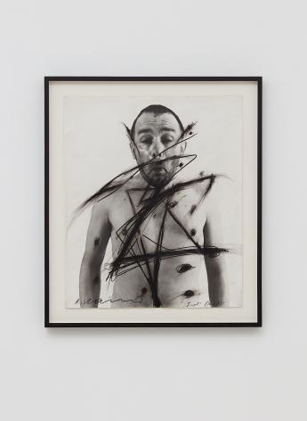 Arnulf Rainer, Siegel Sagel…., 1970/75, Ballpoint on photograph, 23 1/2 x 19 3/4 in framed (59.7 x 50 cm), ARA18.005