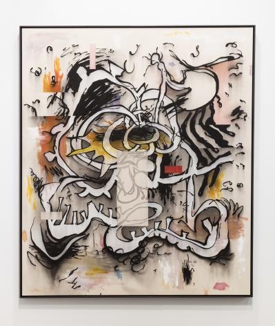 Jan-Ole Schiemann, Süsse Kopfschmerz, 2017, ink and acrylic on canvas, 72 x 62 in (182.9 x 157.5 cm), JS17.005