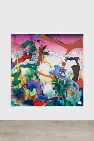 Antwan Horfee Arzak's Forest See Through, 2021 Acrylic on canvas 78 3/4 x 78 3/4 in 200 x 200 cm (HOR21.013)