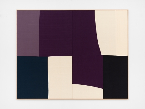Ethan Cook, Switch, 2020. Hand woven cotton and linen, framed 64 x 80 in, 162.6 x 203.2 cm (ECO20.037)